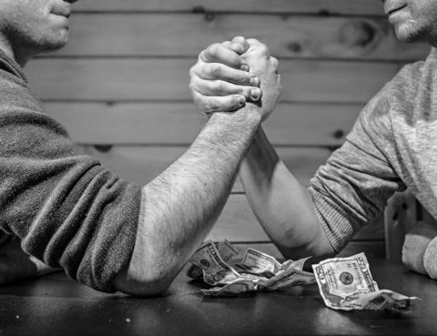 Arm Wrestling over Money | PhloxADR